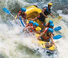 Rafting, Tully River, Queensland, Australie