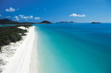 Whitehaven Beach, les Iles Whitsundays, Queensland, Australie